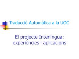 Traducció Automàtica al Campus Virtual