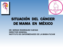 Situación del Cáncer en México