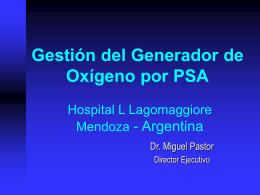 Gestión del Generador de Oxígeno por PSA Hospital Lagomaggiore