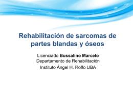 Rehabilitación de sarcomas de partes blandas y óseo