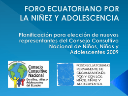 foro ecuatoriano por la niñez y adolescencia