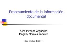 Procesamiento de la información documental