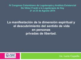 """Seminario Internacional de Logoterapia: """"En el límite, hay un"""