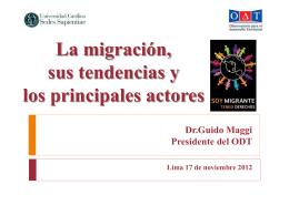 La migración, sus tendencias y los principales actores