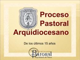 proceso pastoral arquidiocesano en presentación de power point
