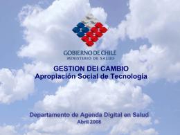 GESTION DEl CAMBIO Apropiación Social de Tecnología