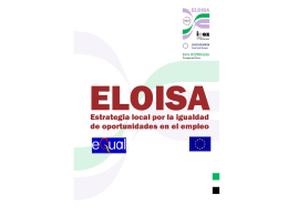 Local Strategy for EqualOpportunities in Employment (ELOISA)
