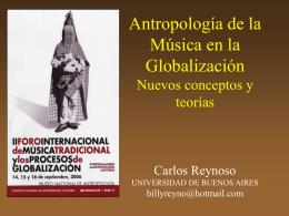 Antropología de la Música en la Globalización