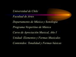 la tonalidad como - Universidad de Chile