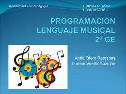 programación lenguaje musical 2º ge