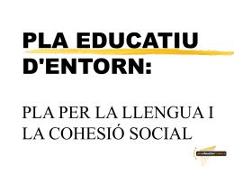 Pla Educatiu d`Entorn a Mataró