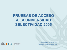 Dossier - Universidad de Cádiz