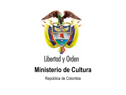 Ministerio de Cultura - Dra. Claudia Marcela Zapata