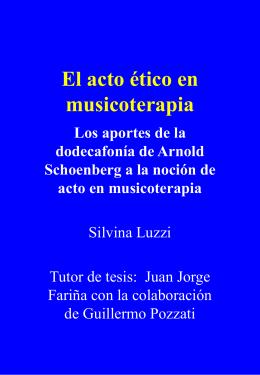 El acto ético en musicoterapia