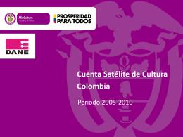 Cuenta Satélite de Cultura Colombia
