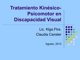 Tratamiento Kinésico en Discapacidad Visual