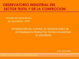 optimización del control de importaciones de determinados