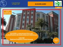 Gli SCORE - Azienda Complesso Ospedaliero San Filippo Neri