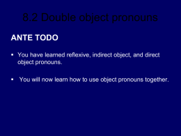 8.2 Double object pronouns