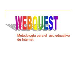 Definición de WEBQUEST