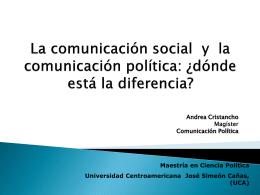 La comunicación de masas y la comunicación política
