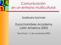 Negociación Intercultural (con énfasis en