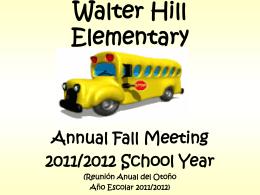Smyrna Elementary - Walter Hill School