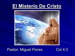 07-El Misterio De Cristo - Iglesia de Cristo Mahanaim