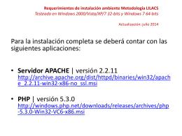 Instructivo de Instalación Apache 2.2.11 - PHP 5.3.0