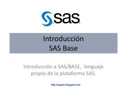 Curso - Introducción al lenguaje SAS BASE