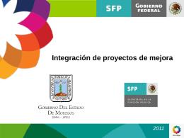 Integración de proyectos de mejora