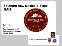 Southern New Mexico & El Paso Joint Land Use Study