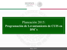 Planeacion Carga de layout Mayo 2015