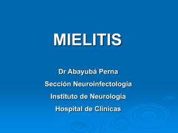 MIELITIS - Clinica Medica 2