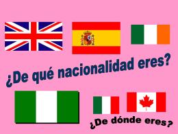 Soy de Inglaterra.