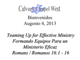 Romans 16:1-2 - Calvary Chapel West