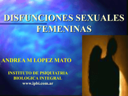 disfuncion sexual - Instituto de Psiquiatría Biológica Integral