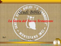 """presentazione in formato pps - Centro Studi Biblici """"G. Vannucci"""""""