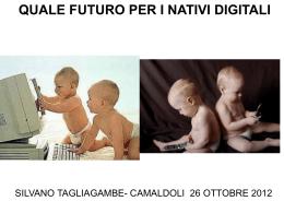le slide di Silvano Tagliagambe