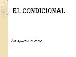 El Condicional