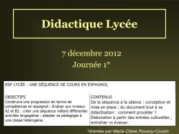 Didactique Lycée