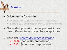 Acusativo - IES Fuente de la Peña