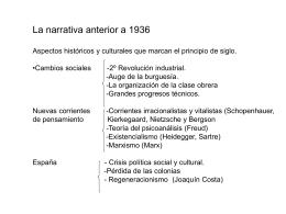 La narrativa anterior a 1936