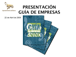 GUÍA DE EMPRESAS - Ayuntamiento de Borox