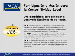 PACA-Participación y Acción para la Competitividad - PACA