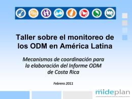 Taller sobre el monitoreo de los ODM en