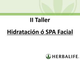 Taller II Hidratacion o SPA Facial (MX)
