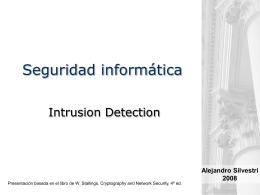 Seguridad informática -Detección de intrusos