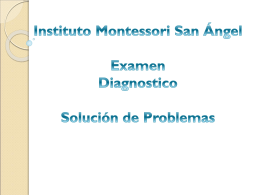 Pregunta - Instituto Montessori San Angel