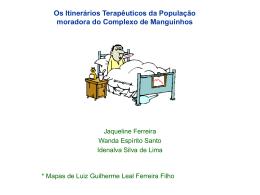 Os Itinerários terapêuticos da população da região de